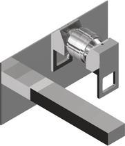 Встраиваемый смеситель для раковины без донного клапана, хром Cezares MOLVENO-BLS2-01-W0