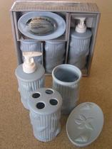 Набор аксессуаров керамический для ванной 4 в 1 море