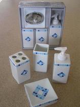 Набор аксессуаров керамический для ванной 4 в 1 мозаика