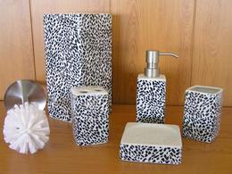 Набор аксессуаров керамический для ванной 5 в 1 снежный барс