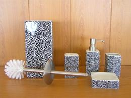 Набор аксессуаров керамический для ванной 5 в 1 зебра