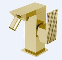 Смеситель для биде однорычажный, золото Cezares PRIZMA-BSM1-03/24-W0