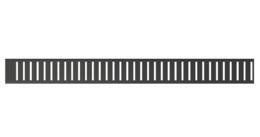 PURE-BLACK Решетка для водоотводящего желобов PURE-1450BLACK