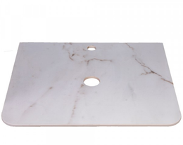 Столешница керамогранит СС-00002233 цвет белый глянцевый мрамор