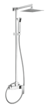 Душевая стойка с верхним и ручным душем. Верхний душ из нержавеющей стали, хром Cezares QUATTRO-C-CD-01-S