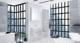 Зеркальный шкаф Roca Ronds ZRU9303008 70 см бетон/белый глянец