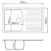 Кухонная мойка Rossinka RS76-47SW Песочная