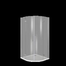 Душевой уголок Good Door SATURN R-100-C-CH 100x100 стекло прозрачное