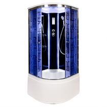 Душевая кабина Deto BМ4510 LED BLACK 100х100х220 см