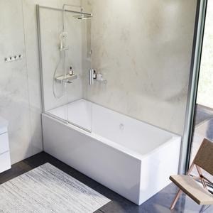 AM.PM INSPIRE 2.0 WK52EB  Набор:Ванна 180x80 с каркасом и душевой системой и шторкой