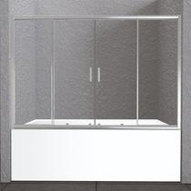 Шторка на ванну, хром BelBagno UNIQUE-VF-2-150/180-140-P-Cr