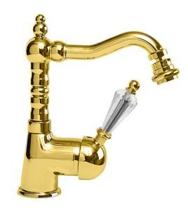 Однорычажный смеситель для биде, золото Cezares VINTAGE-BSM2-03/24-Sw