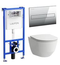 Инсталляция Laufen Pro ПЭК (8.6996.6.000.000.R) в комплекте с унитазом Pro Rimless микролифт
