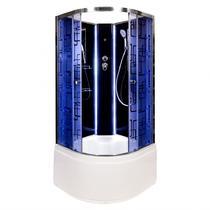 Душевая кабина Deto BМ4510 N LED BLACK 100х100х208 см