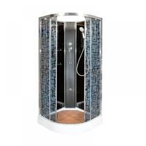 Душевая кабина Deto BМ1510 N с гидромассажем BLACK 100х100х208 см