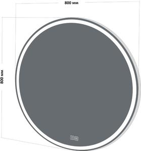 Зеркало BelBagno SPC-RNG-800-LED-TCH-WARM с подогревом